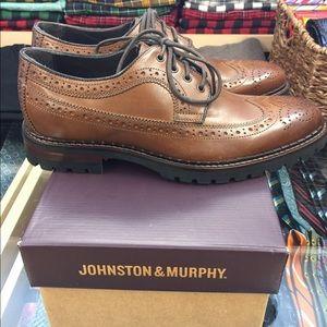 Johnston Murphy Jennings Wingtip Rubber